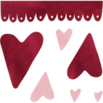 Hearts & Scallop By Rosebud's Cottage - Sizzix Bigz Dies Fabi Edition