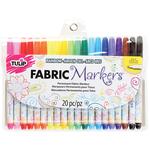 Fine Line Assorted Colors - Tulip Writers Fabric Marker Set 20/Pkg