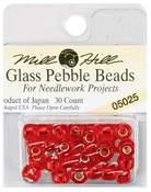 Ruby - Mill Hill Glass Pebble Beads 5.5mm 30/Pkg