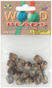 Walnut - Barrel Wood Beads 13mmX11mm 18/Pkg