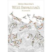 Wild Savannah 30 Coloring Postcards - Lark Books