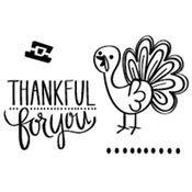 """Thankful Turkey - Neat & Tangled Clear Stamps 3""""X2"""""""