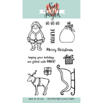 """Santa's Ride - Neat & Tangled Clear Stamps 4""""X6"""""""