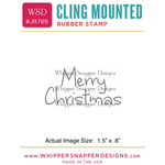 "Mini Merry Christmas - Whipper Snapper Cling Stamp 2.5""X3.5"""