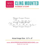 """Script Happy Holidays - Whipper Snapper Cling Stamp 2.5""""X3.5"""""""