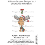 """Kiss Me Moose - Whipper Snapper Cling Stamp 4""""X6"""""""