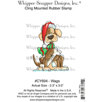 """Wags - Whipper Snapper Cling Stamp 4""""X6"""""""
