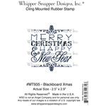 "Blackboard Christmas - Whipper Snapper Cling Stamp 4""X6"""