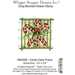 "Candy Cane Frame - Whipper Snapper Cling Stamp 4""X6"""