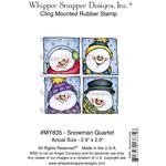 "Snowman Quartet - Whipper Snapper Cling Stamp 4""X6"""