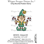 "Edward Elf - Whipper Snapper Cling Stamp 4""X6"""