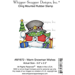 "Warm Snowman Wishes - Whipper Snapper Cling Stamp 4""X6"""