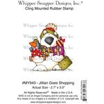 "Jillian Goes Shopping - Whipper Snapper Cling Stamp 4""X6"""