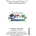 """Jingle Bells - Whipper Snapper Cling Stamp 4""""X6"""""""