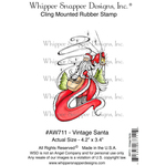 "Vintage Santa - Whipper Snapper Cling Stamp 4""X6"""