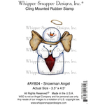 "Snowman Angel - Whipper Snapper Cling Stamp 4""X6"""