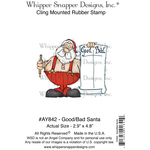 "Good Bad Santa - Whipper Snapper Cling Stamp 4""X6"""