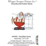 "Good Bad Santa - Whipper Snapper Cling Stamp 4""X6"""