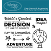 """Great Decision - Technique Tuesday Clear Stamps 3""""X4"""""""