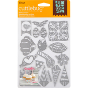 Holiday Sampler, 20/Pkg - Cuttlebug Cut & Emboss Die