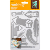 Feathers & Arrows, 12/Pkg - Cuttlebug Cut & Emboss Die
