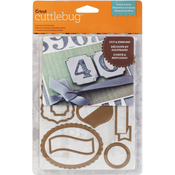 Labels & Such, 10/Pkg - Cuttlebug Cut & Emboss Die