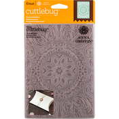 "Ornate Medallion - Cuttlebug 5""X7"" Embossing Folder By Anna Griffin"