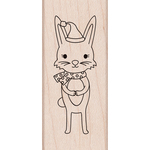 "Winter Bunny - Hero Arts Mounted Rubber Stamp 2.5""X1"""