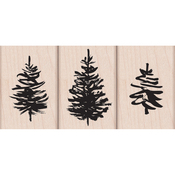 "Paintbrush Trees - Hero Arts Mounted Rubber Stamp Set 3""X3"""