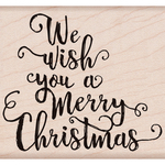 """We Wish You A Merry Christmas - Hero Arts Mounted Rubber Stamp 4""""X2"""""""