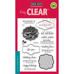 """Holiday Messages & Tags - Hero Arts Clear Stamps 4""""X6"""""""