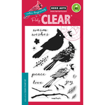 """Coloring Layering Cardinal - Hero Arts Clear Stamps 4""""X6"""""""