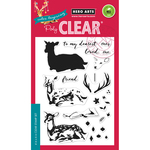 """Color Layering Deer - Hero Arts Clear Stamps 4""""X6"""""""