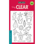 """Origami Happy Holidays - Hero Arts Clear Stamps 4""""X6"""""""