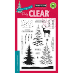 "Color Layering Snowy Tree - Hero Arts Clear Stamps 4""X6"""