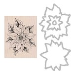 Poinsettia - Hero Arts Mounted Rubber Stamp & Die Combo