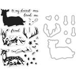 Deer - Hero Arts Clear Stamp & Die Combo
