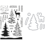 Snowy Tree - Hero Arts Clear Stamp & Die Combo