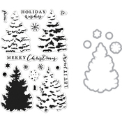 Christmas Tree - Hero Arts Clear Stamp & Die Combo