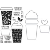 Coffee Cup - Hero Arts Clear Stamp & Die Combo