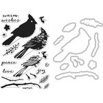 Cardinal - Hero Arts Clear Stamp & Die Combo