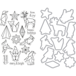Origami Holiday - Hero Arts Clear Stamp & Die Combo
