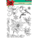 "Winter Joy - Penny Black Clear Stamps 5""X7"""
