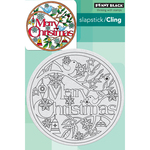 """Christmas In The Round - Penny Black Cling Stamp 4""""X6"""""""