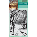 "Wintry Trail - Penny Black Cling Stamp 5""X7"""