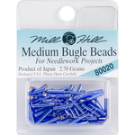 Royal Blue - Mill Hill Medium Glass Bugle Beads 2.5mmX9mm 2.7g