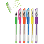 Brights - Living In Color Color-Flow Glitter Gel Pen Set 6/Pkg