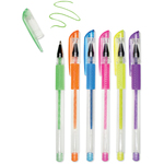 Neons - Living In Color Color-Flow Glitter Gel Pen Set 6/Pkg