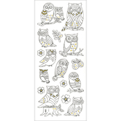 Owls - Living In Color Art Therapy Glitter Stickers