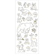 Woodland Creatures - Living In Color Art Therapy Glitter Stickers